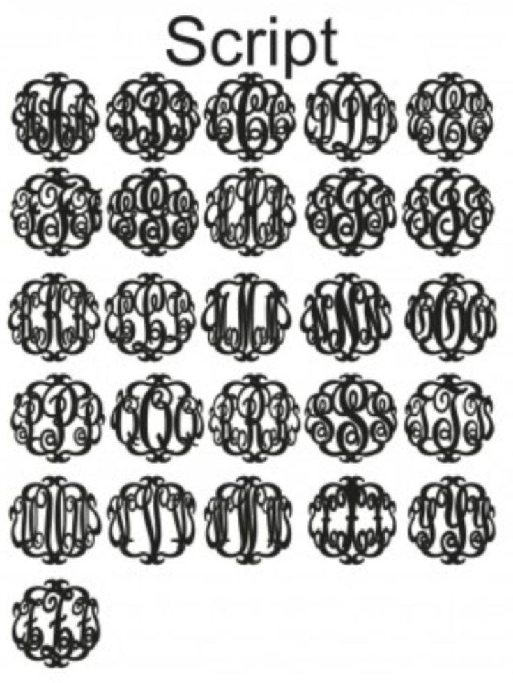 73 Best Images About More Monograms Please On Pinterest