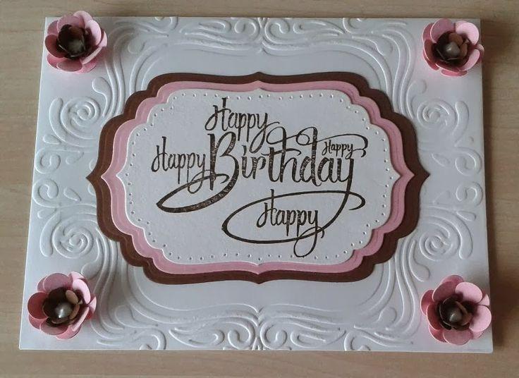 Stempeltechnik, Spellbinders, Rubbernecker, Happy Birthday, Envelope