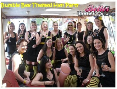 Hen Party Theme These Las Rocked The Ble Bee Fancy Dress Hennight Hennightideas
