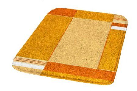 So bad it's almost good.  Kleine Wolke Padova 7258539225 Bath Mat 70 x 120 cm Saffron: Amazon.co.uk: Kitchen & Home