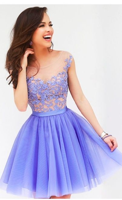 Periwinkle Short Prom Dress