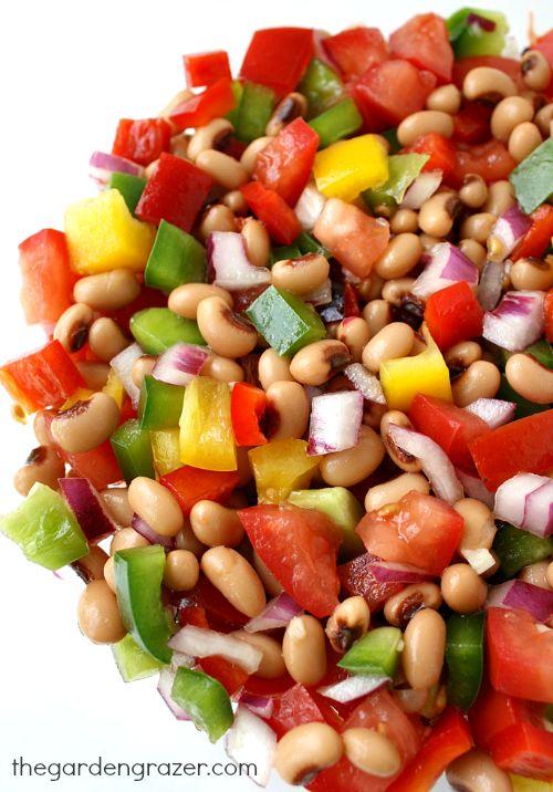 The Garden Grazer: Black-Eyed Pea Salad and Dip