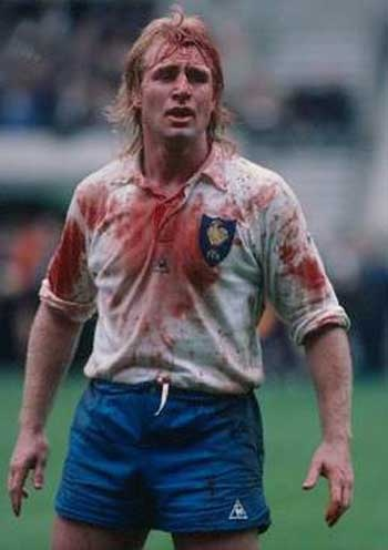Rugby History : Born today 31/12 in 1952... Jean-Pierre Rives (France FFR) - Legendary flanker and French captain Jean-Pierre Rives was born in Toulouse. His unmistakeable talent gained attention from the national selectors and Rives made his France debut against England in 1975, at the age of 22. In 1977 he was inspirational as a brilliant French side won the Grand Slam and his attitude and commitment to playing free-flowing, ambitious rugby endeared him to fans the world over.