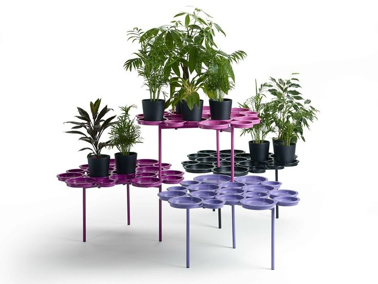 Aluminium plant pot GREEN PAD O₂ASIS Collection by Offecct | design Luca Nichetto