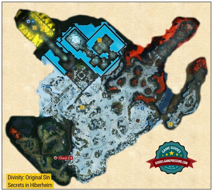 Map of Secrets in Hiberheim - Divinity: Original Sin