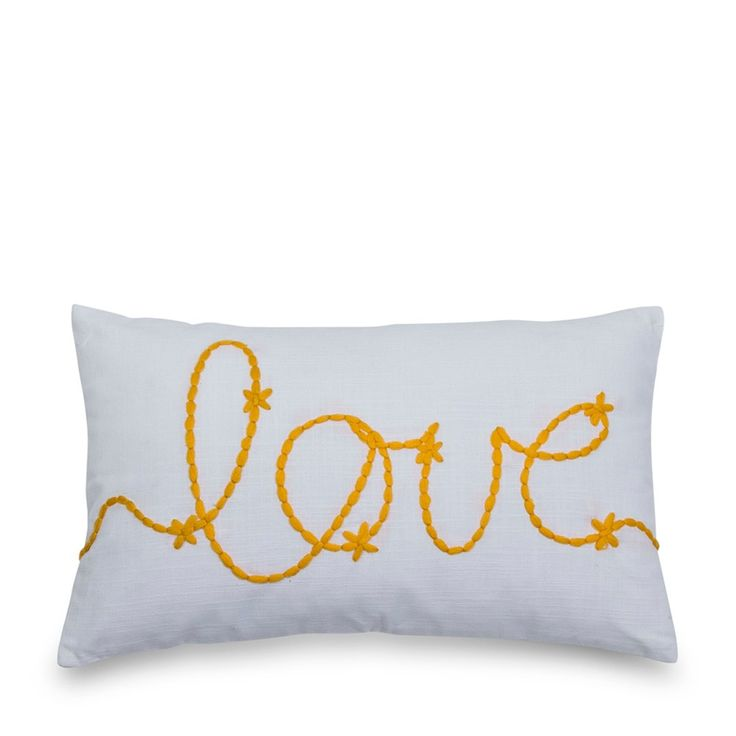 Yellow Love Cushion 30x50cm | Me & My Trend | www.meandmytrend.com