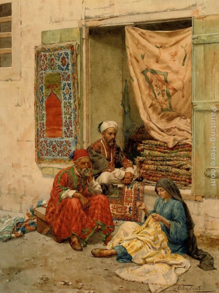 Giulio Rosati-The Carpet Merchant