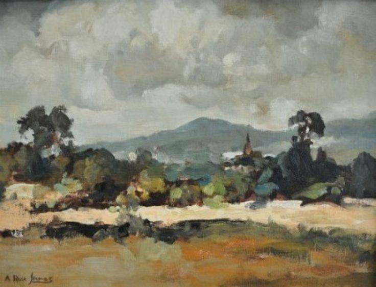 ARI2 Alexander Rose-Innes Landscape with Church Tower