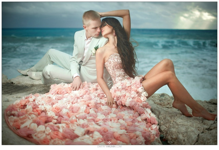 Loving couple and OMG the Dress!