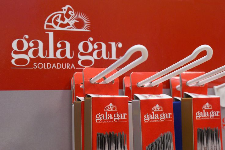 Expositor punto de venta cajas electrodos Gala Gar