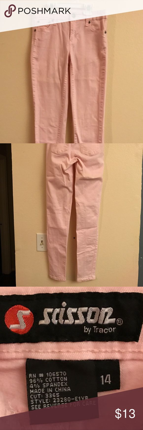 Girls Jeans Pink Girls Scissor Tractor Skinny Jeans from Tilly's. No rips or stains. Tilly's Bottoms Jeans