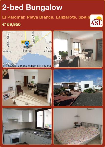 2-bed Bungalow in El Palomar, Playa Blanca, Lanzarote, Spain ►€159,950 #PropertyForSaleInSpain