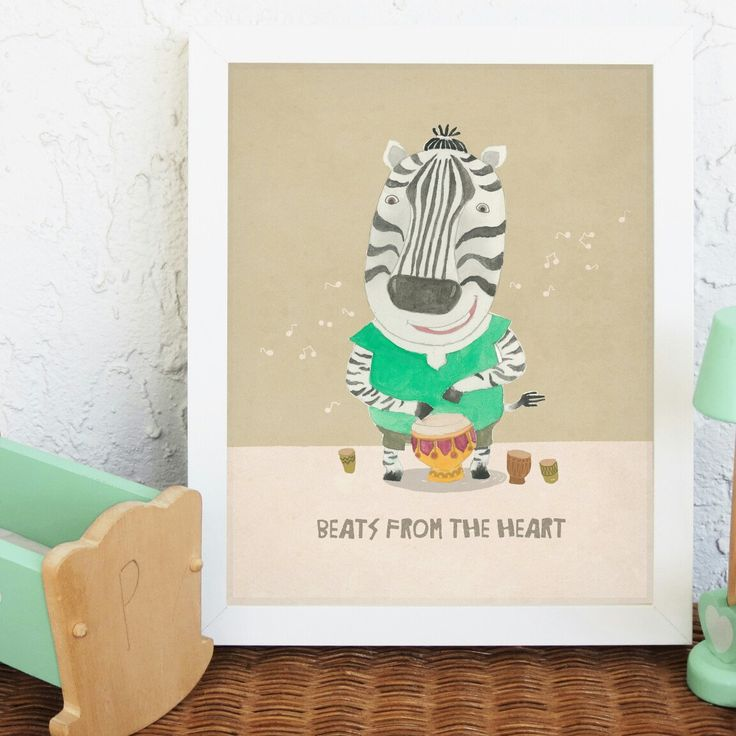 Animal nursery art, Cute nursery print, Zebra print, Nursery decor, Animal portrait. Visit my etsy shop for more super cute nursery prints at👉 http://etsy.me/2nEAwLP