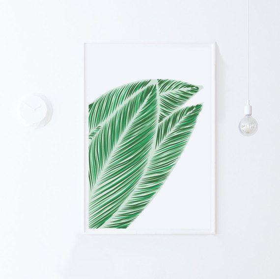 AFDRUKBARE ART Print-tropische verlaat moderne digitale Print-groen Art-Green Wall Art-actuele Leaf-24 x 36-groen blad afdrukken-downloadbare Print