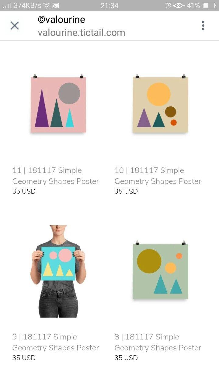 Triangle And Circles Geometry Art Prints Geometric Shapes Design