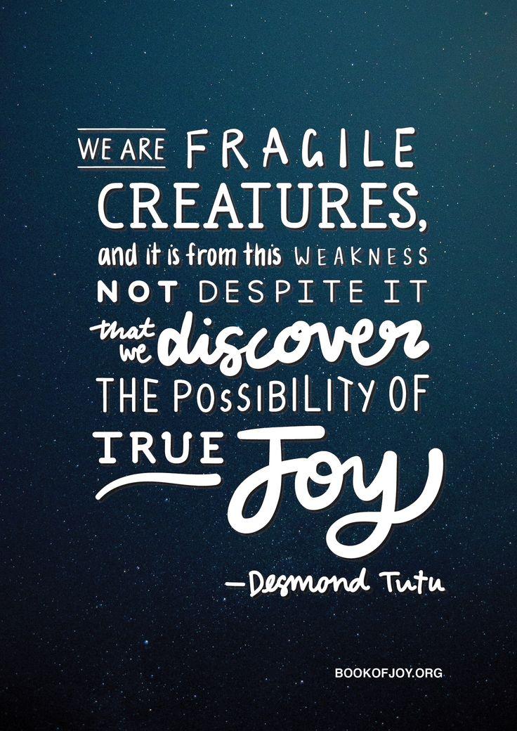 #WednesdayWisdom from Archbishop Desmond Tutu and THE BOOK OF JOY. #sharethejoy