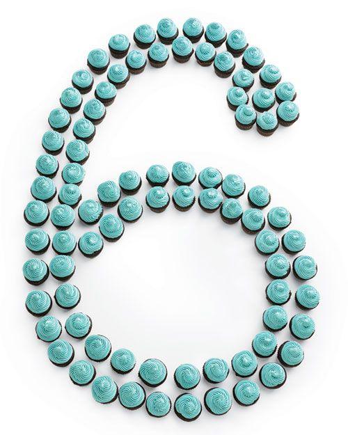 Number-Themed Mini Birthday Cupcakes - Martha Stewart Recipes
