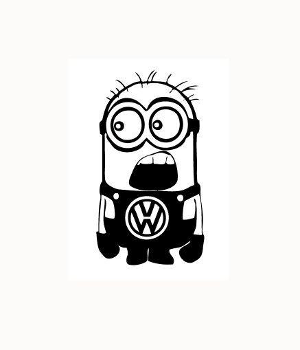 Minion Volkswagen sticker by vinylgem on Etsy