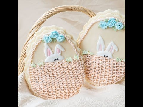 Create an adorable Easter cookie piping royal icing pressure piping, basket weave, and rope techniques. IF YOU LIKE THIS VIDEO, please give it a thumbs up, s...