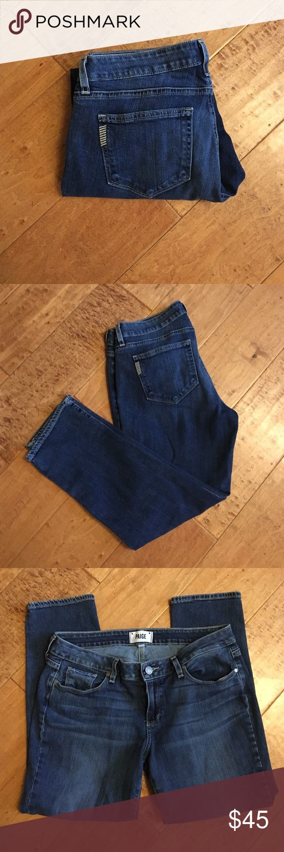 🎉SALE🎉Paige Winslow Crop Jeans 🎉SALE🎉Paige Winslow Jimmy Jimmy Crop Jeans.  Sit low on waist.  Size 28.  Gently used. Paige Jeans Jeans Ankle & Cropped