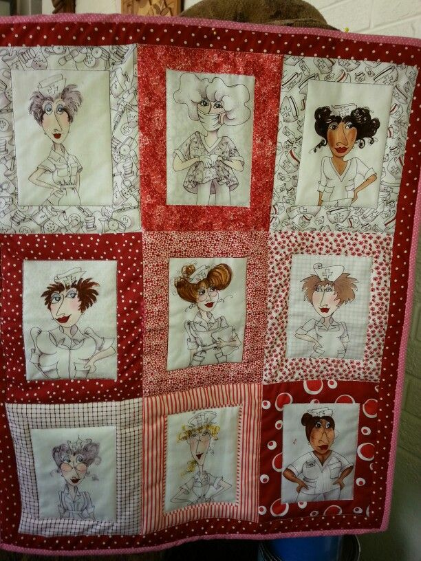 Sexy Nurse Wall Quilt My Quilting Projects Quilts