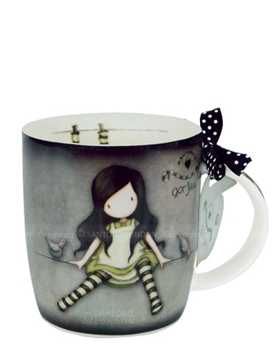 Santoro just released cute new mugs featuring some art by Suzanne Wolcott aka Gorjuss.  they are so cute!