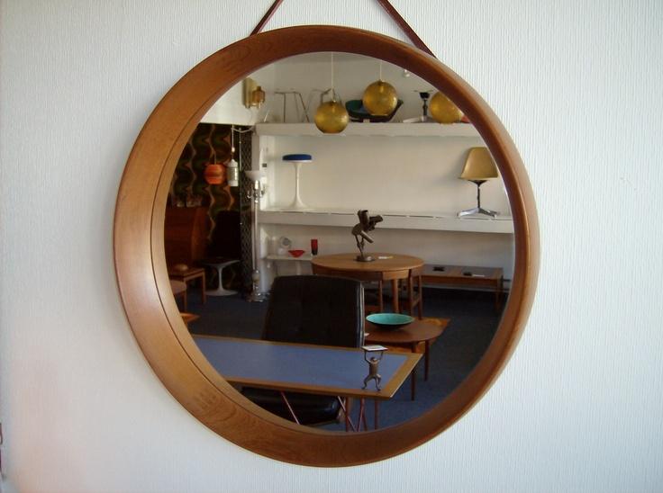 Mid-century modern Danish teak mirror by Pedersen & Hansen