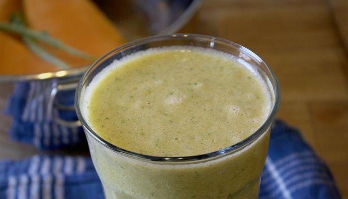 Canteloupe Orange Juice Kale Smoothie