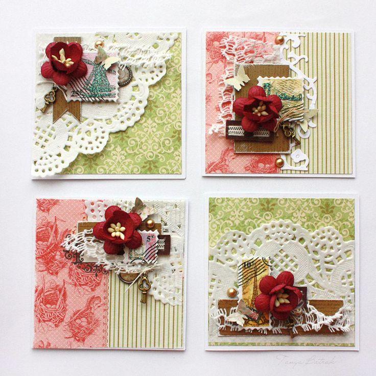 Открытка, маленькие открытки скрап