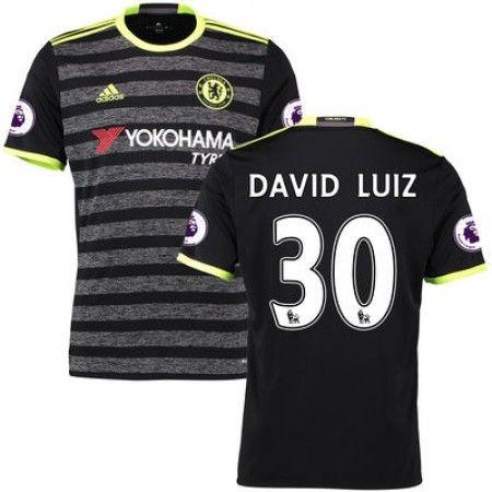 Chelsea 16-17 #David Luiz 30 Bortatröja Kortärmad,259,28KR,shirtshopservice@gmail.com