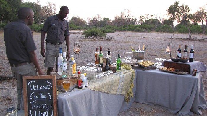 Sunset drinks at the Thirsty Lion Bush Bar