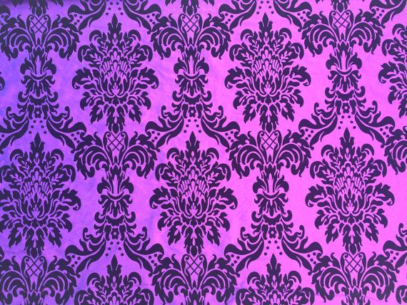Purple Shot Blue DAMASK taffeta fabric by TheFabricShopUK on Etsy