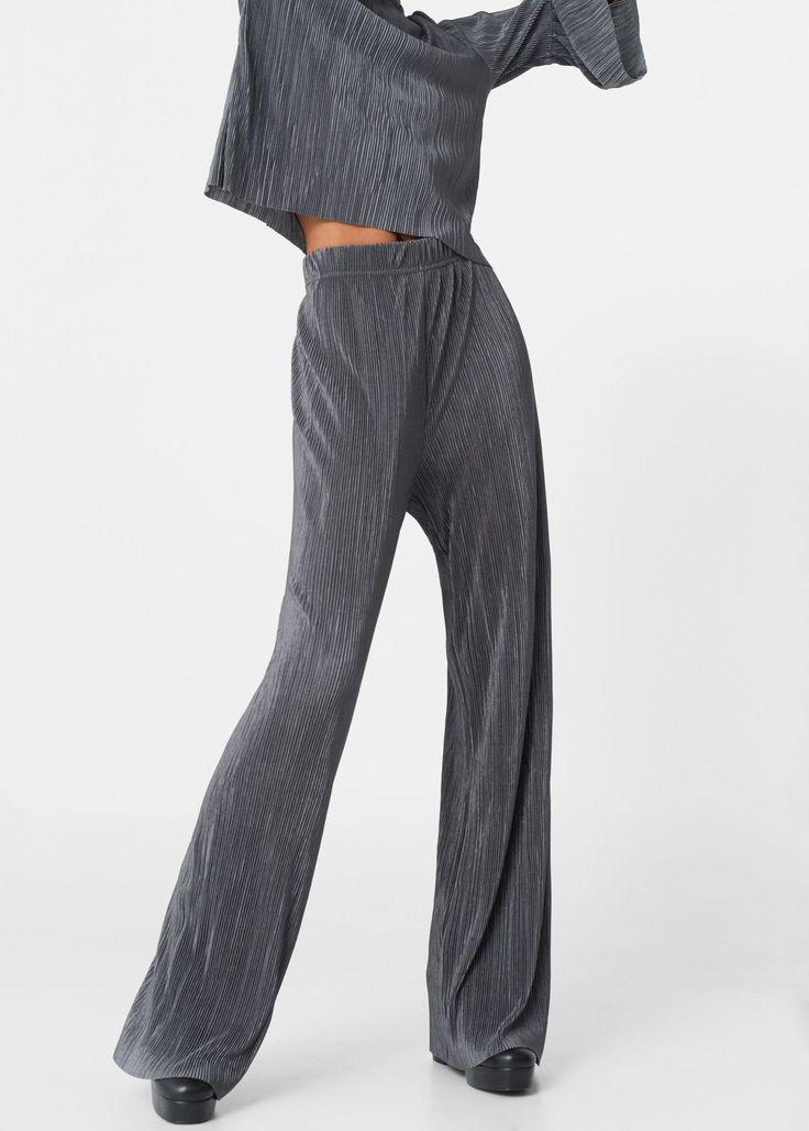 Плиссированные брюки - Брюки  - Женская | MANGO МАНГО Россия (Российская Федерация)