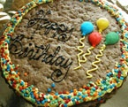 Birthday Cookie Cake - Chocolate Chip
