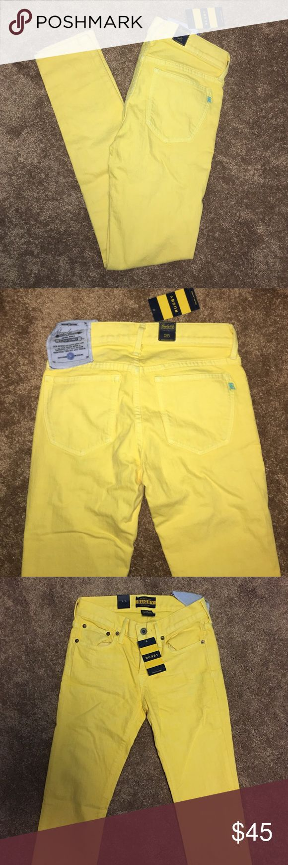 Ralph Lauren Rugby Yellow Skinny Jeans, 25 New Ralph Lauren Rugby Yellow Skinny Jeans, size 25! Perfect color for spring and summer! Ralph Lauren Jeans Skinny
