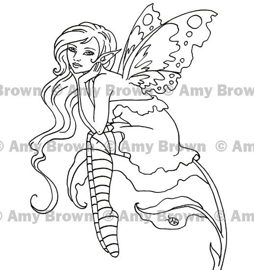 set of 2 fairies digital downloads by amy brown coloring prints - Coloring Prints