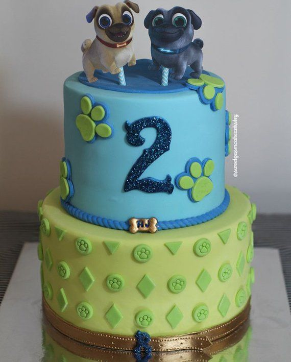 Puppy Dog Pals Cake Toppers | Dog themed birthday party ...