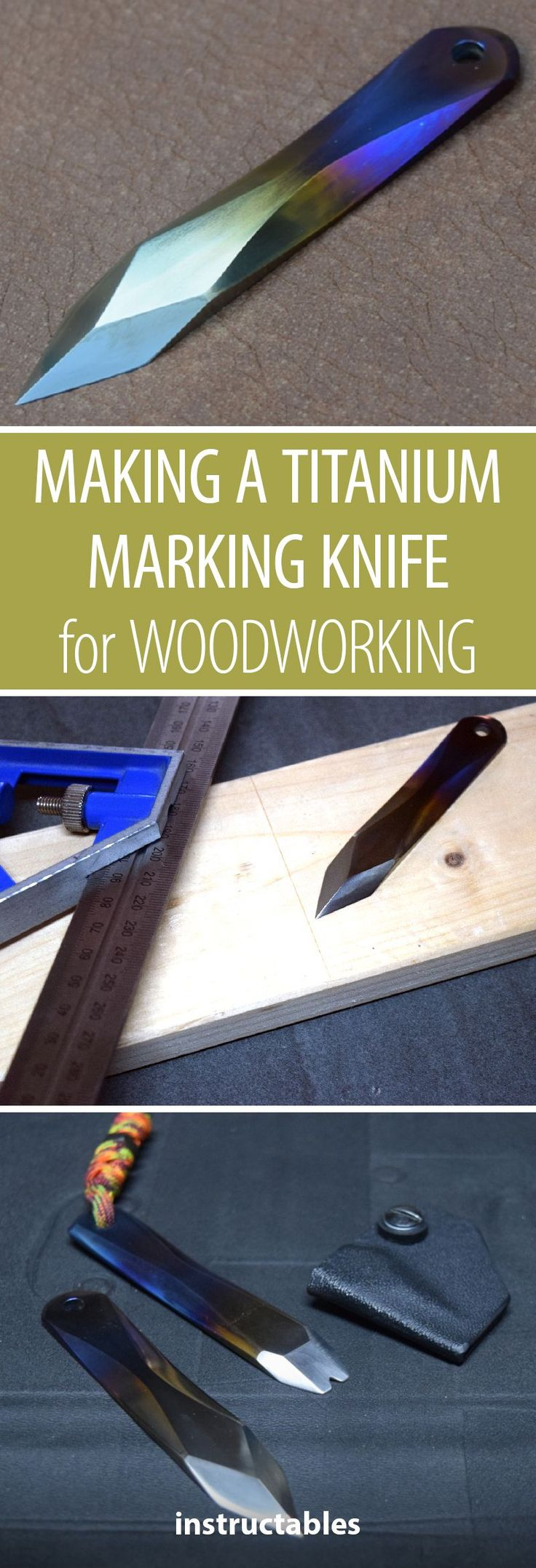 DIY Woodworking Ideas Make a marking knife from titanium for woodworking. #metalworking #workshop #woo...