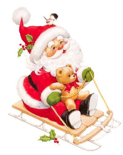 Santa en trineo | Sarah Kay - tube de noel