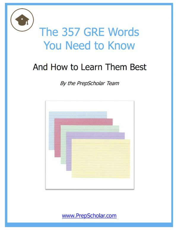 PrepScholar GRE Vocab Flashcards (1) Grad School Pinterest Gre - vocab flashcards