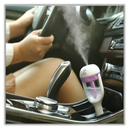 Nanum Mini Aromatherapy Car Humidifier works as both air humidifier and aroma diffuser. The fine mist sent out by Nanum can remove the static electricity, reduce the radiation generated by electronic