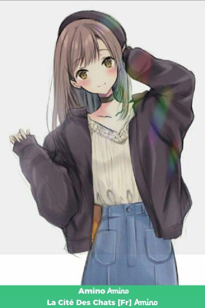 Ellie Dessin Kawaii Manga Jolie Fille Manga Personnage Kawaii