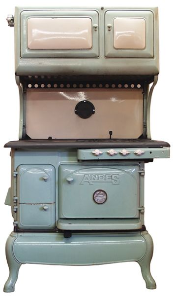 Current Inventory Of Gas/Wood Dual Fuel Kitchen Coook Stoves For Sale :  Andes Gas/Wood Dual Fuel Antique Cook Stove