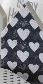 JOTS - Houten huis - small / large, hearts black/white