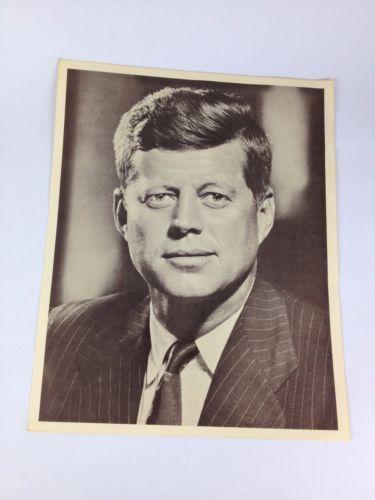 John-F-Kennedy-JFK-11-034-X-14-034-VTG-Photo-Print-B-amp-W-Official-Presidential-Portrait