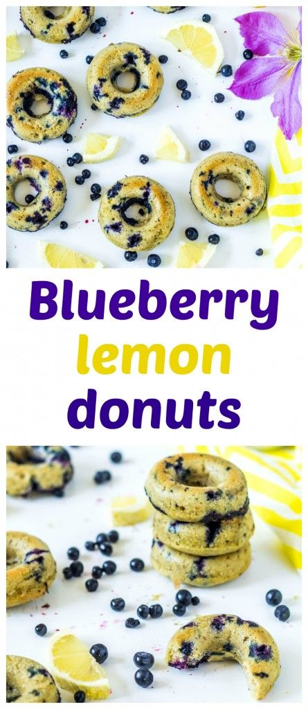 Summer moist baked no yeast donuts with lemon and blueberries