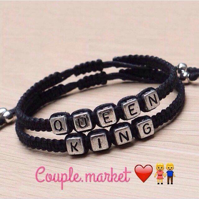 Pulcera King, queen  Un regalo muy original para tu cumple mes ☺️ ❤️ REF: 011…