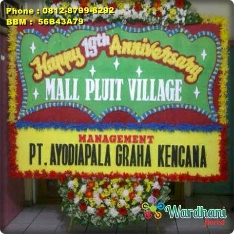 Bunga Papan Happy Anniversary AVS632WF