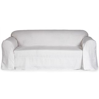 Washable Linen Loveseat Slipcover Throw - Overstock™ Shopping - Big Discounts on Classic Slipcovers Loveseat Slipcovers