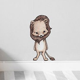 Leo the lion sticker  Removable nursery wall stickers  www.peppapenny.com  Shop 3, 1642 Anzac Ave  North Lakes, QLD 4509